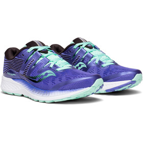 saucony Ride ISO Shoes Women Violet/Black/Aqua